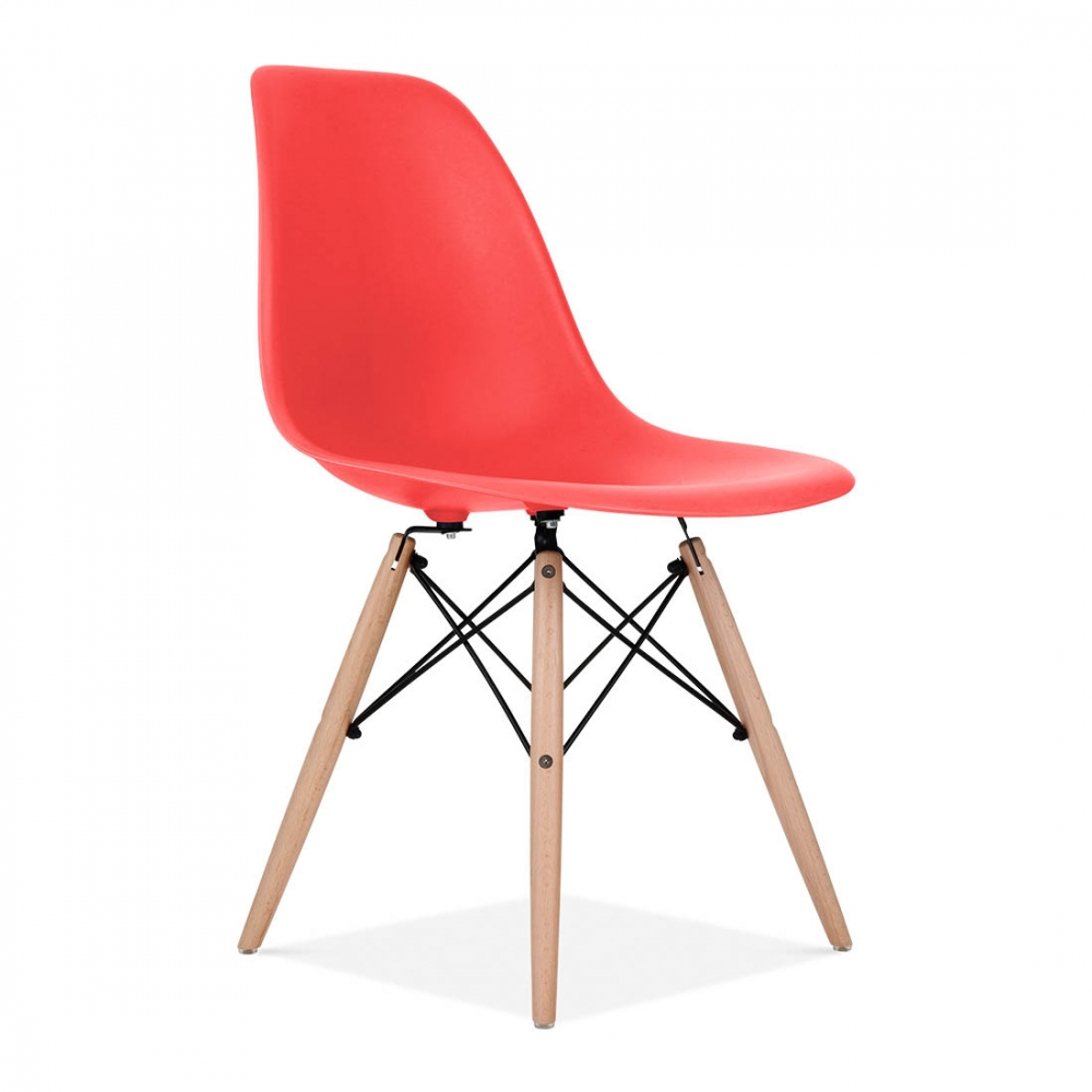 Merveilleux Eames Rep Design Chair (Red)